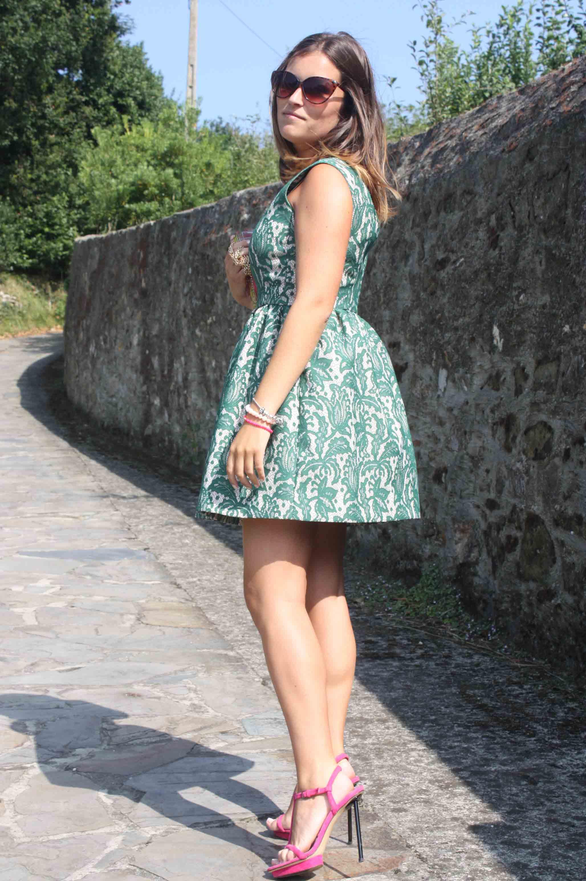 Vestido verde zara 2013